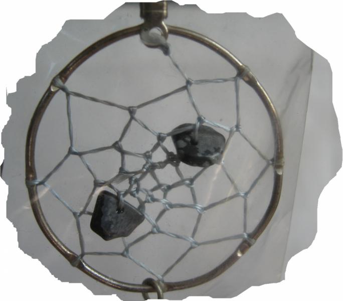 New Dreamcatcher Earrings With Dalmation Jasper
