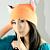 ORANGE FOX fleece hat cosplay anime NARUTO ski