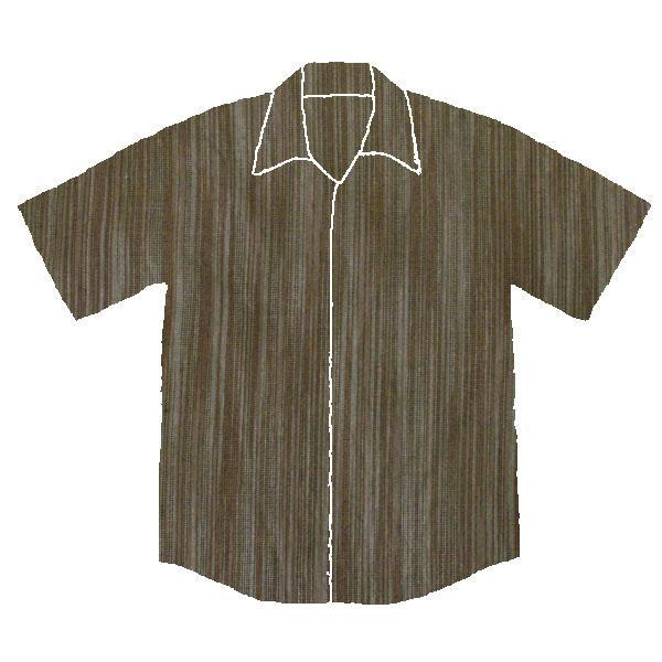 Brown Ikat Style Shirt - Size S