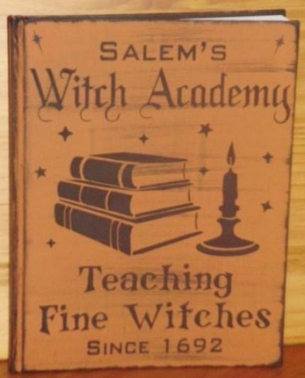 Witchcraft Primitive Witch Blank Journal By