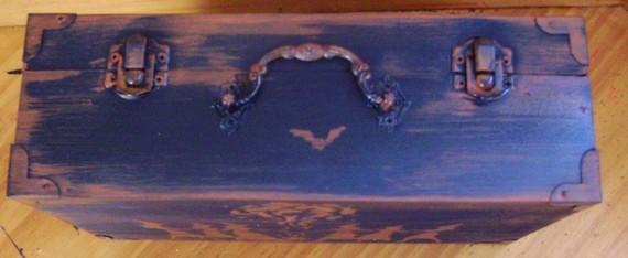 Witchcraft Primitive Witch Black Hat Society Purse Box Witches halloween