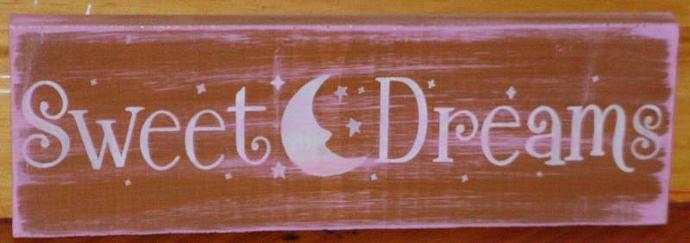 Sweet Dreams Baby Nursery Sign Plaques Baby Shower Gift Children Childrens Room