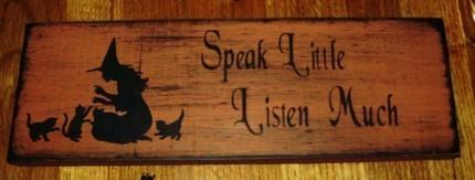 Primitive witch sign wiccan Rede Witchcraft Signs speak Little Listen Much Cats