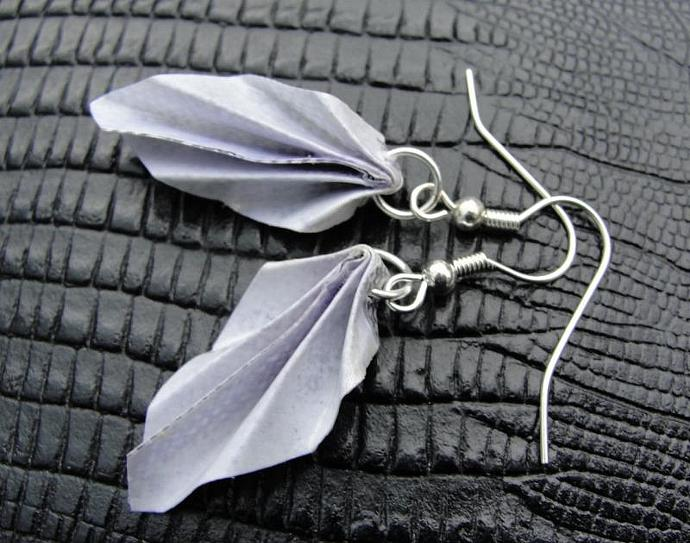 Origami Leaf Junkmail Jewels Earrings