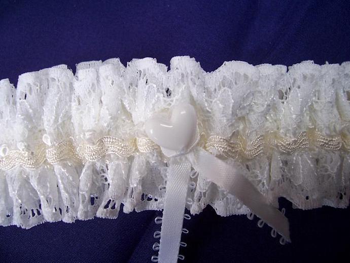 White Lace Bridal Garter