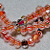 Designer Candy Canes- faceted cane glass beads