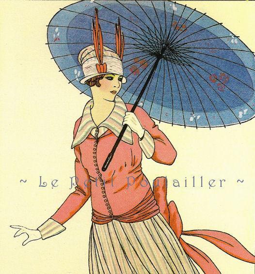 La Belle Epoque Paris Fashions 1980 Vintage French Couture Lithographs, Pl