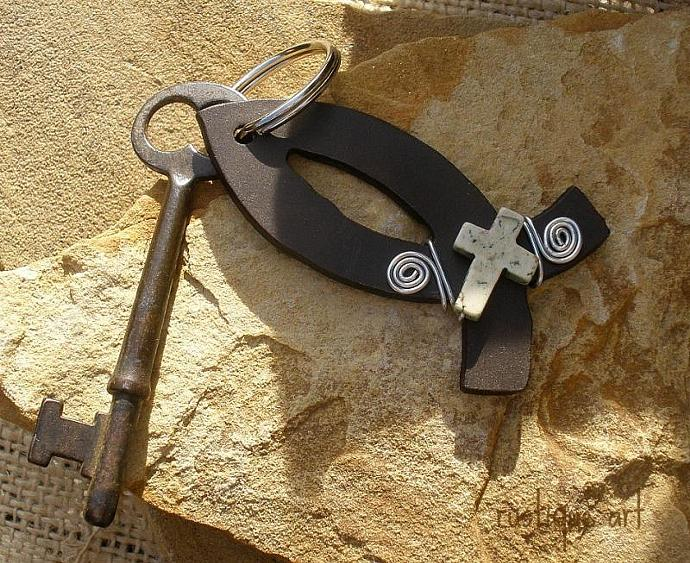 Ichthus Christian Fish Key Ring