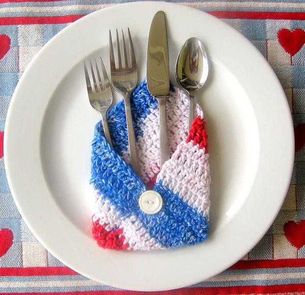 Crochet Envelopes in Red, White & Blue ON SALE