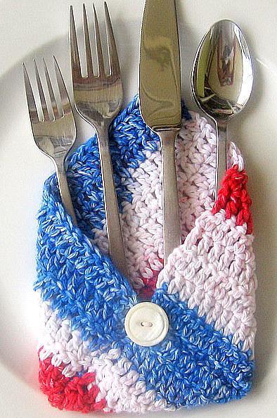 Crochet Envelopes in Red, White & Blue ON SALE