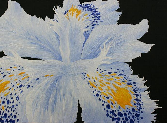 Flower Series: Blue; oil painting on canvas