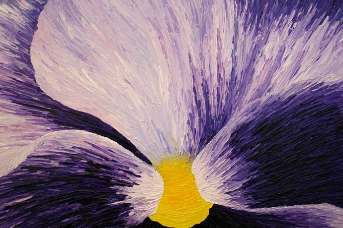 Flower Series: Violet; oil painting on canvas