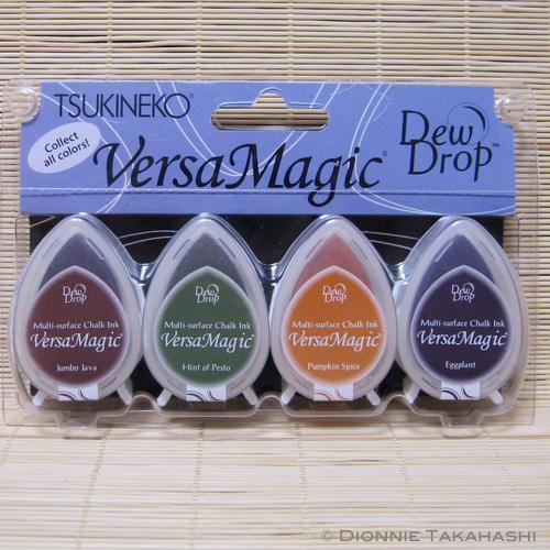 Tsukineko VersaMagic Dew Drop Ink Pads - Set of 4 - Harvest