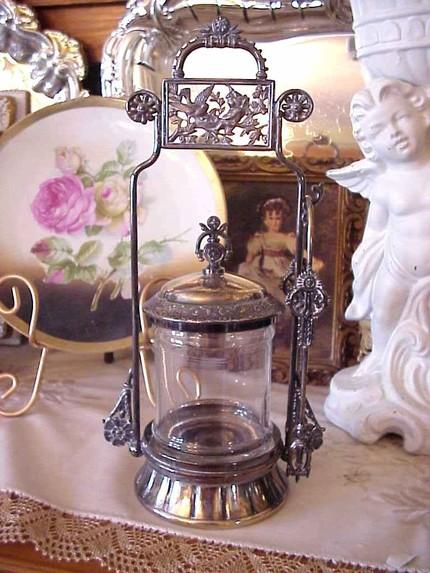 Exquisite Antique Victorian Silver Pickle Castor