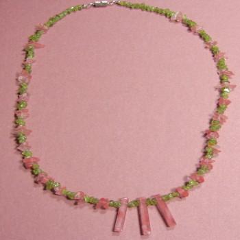 Peridot & Cherry Quartz Necklace