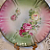 Lovely Antique German Plate with Pink Roses