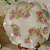 Exquisite Antique Plate with Shabby Pink Roses