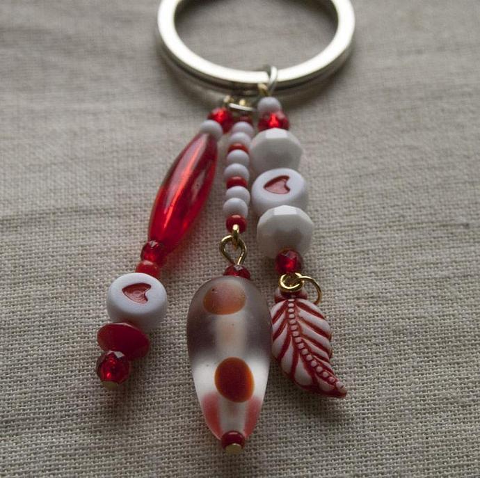 Red White & Love keychain