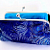 Peacock Clutch in Royal Blue and Chocolate