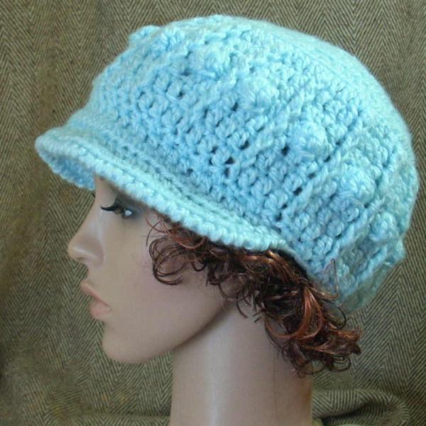 Pdf Pattern Crochet Popcorn Hat Chunky Yarn By Stubbornwoman On