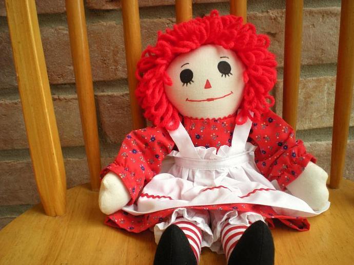 Classic Raggedy Ann Doll Handmade