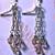 Roses and Silver- Handmade artisan earrings