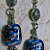 Dahlia- beaded earrings