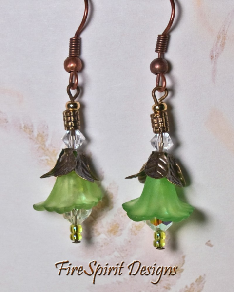 A Passion for Lime-OOAK Beaded Earrings