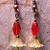 Oranges & Lemons- OOAK Beaded Earrings