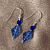 Cobalt Glass Dangle Earrings 9017