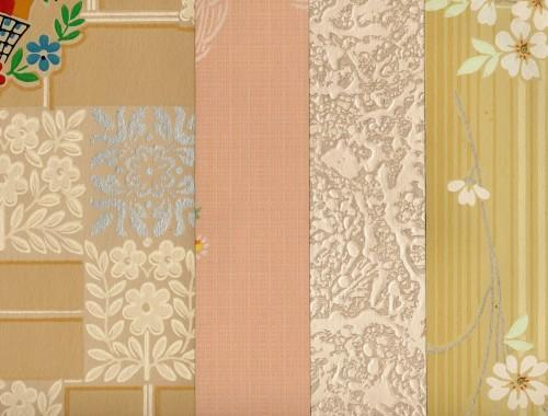 Eaton's Wallpapers 1946 Mid-Century Antique 7-Piece Packet, 5x9, Pkt 32