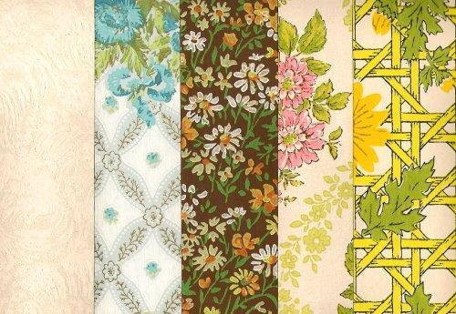 Robinson Wall Paper Samples 1978 Packet of 4 Vintage Sheets, Pkt 1