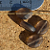 Faceted Brown Glass Oval Beads 10-1296