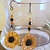 Sunflower & Crystal Earrings