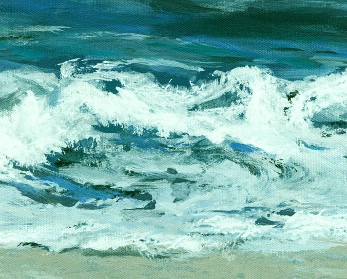 Montauk Surf (An Original Seascape Painting)