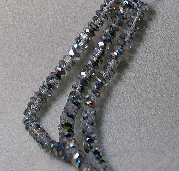Ice Crystals-faceted rondelle beads