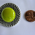 Chartreuse Button Brooch with safety pin