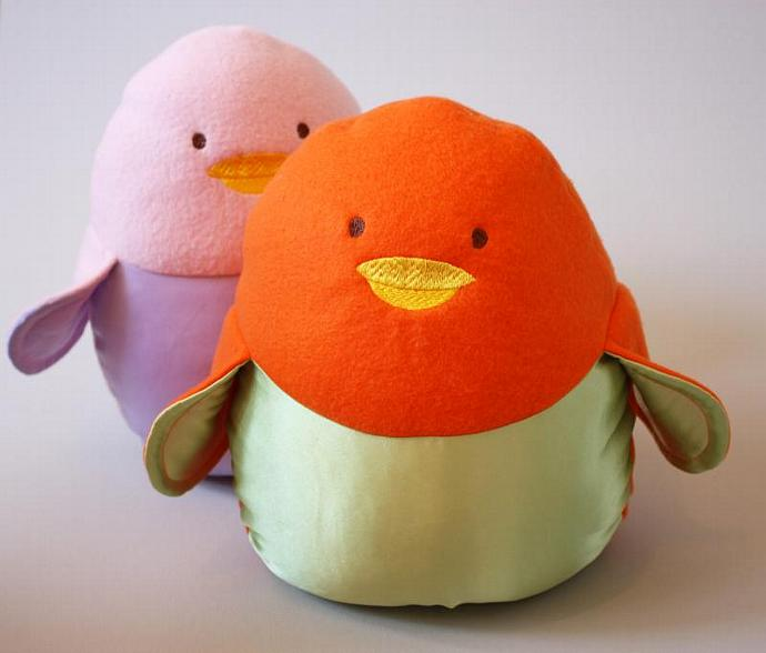 Stuffed Bird, Penguin, or Chick, toy - You pick the Colors