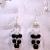 Black Obsidian Demi-fall Earrings