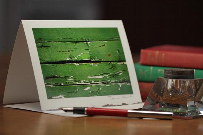 Photo Note Card - Weathered Paint