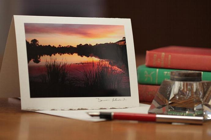 Photo Note Card - Fire in the Sky