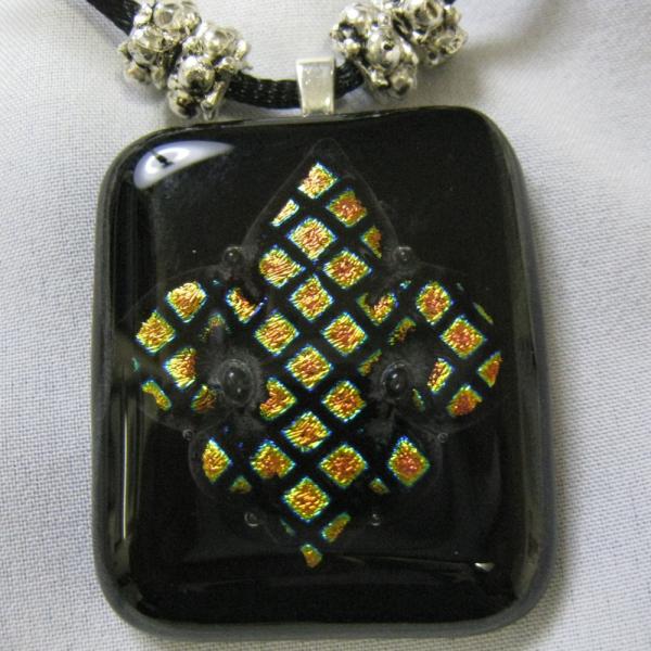 Fleur de Le Dichroic Glass Pendant
