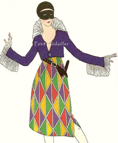 La Belle Epoque Paris Fashions 1980 French Couture Vintage Lithographs, Pl