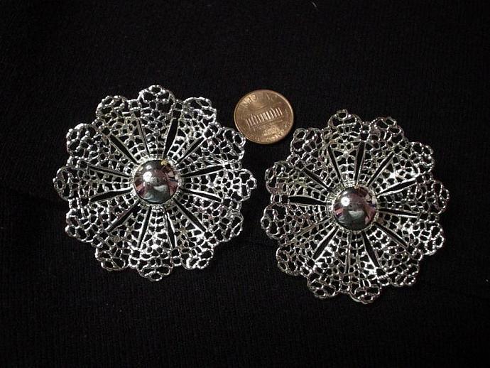 Vintage Fanfare Sarah Coventry Filagree Earrings