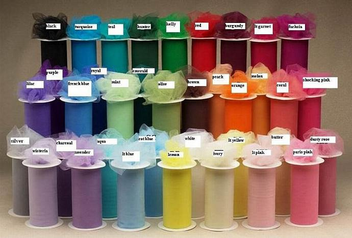 BUY 12 rolls of 6 inch x 300 ft TULLE ROLLS w/FREE SHIPPING