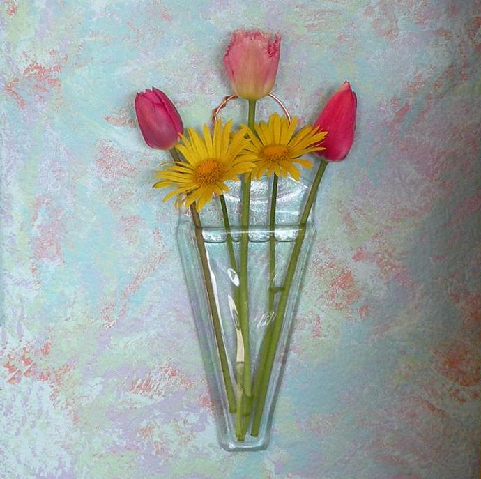 Handmade Recycled Glass Wall Pocket Vase By Steiderstudios On Zibbet