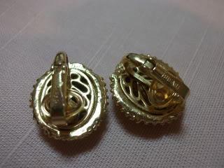 Vintage Crown Trifari Earrings Clip On