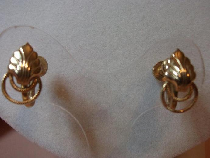 Vintage RARE! Antique Alice Earrings, Signed!