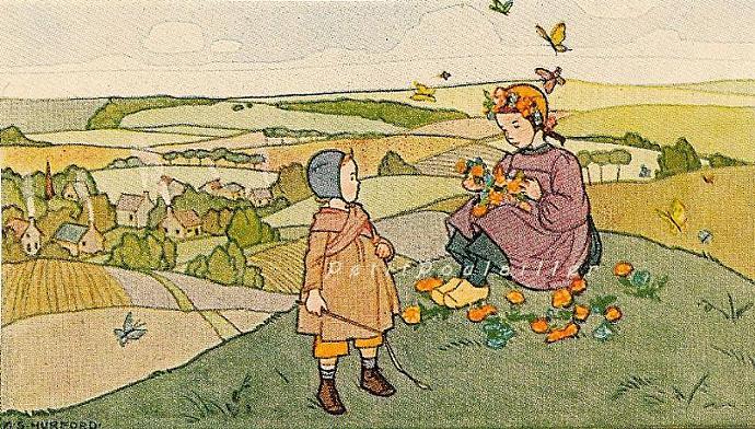 Children Storybook Fairy Tale Art 1937 Antique 50-Piece Ephemera Packet