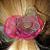 Rainbow Organza Fabric Flower Pony-O